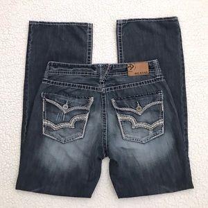 Big Star Jeans Pioneer Bootcut Distressed Dark 34